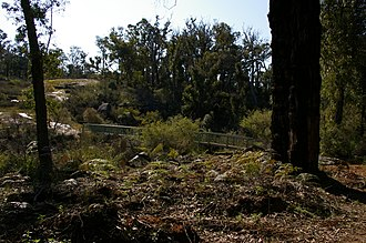 Bibbulmun Track - Bibbulmun track where it crosses the upper reaches of the Canning River.