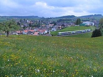 Biglen - Biglen seen from West