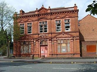 Bilston School of Art - Bilston Technical School, disused and boarded up
