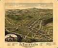 Bird's eye view of the village of Farmington, Stafford County, New Hampshire 1877. LOC 73694684.jpg