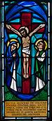 Birr St. Brendan's Church South Transept Prince of Wales Regiment Memorial Window Right Light Crucifixion 2010 09 10.jpg
