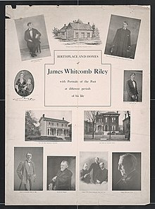 Portraits of the poet at different periods James Whitcomb Riley