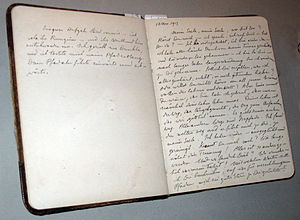 Black Books (Jung) - Jung's Black Book journal 2, opened to the beginning entry of 12 November 1913.