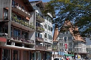 Blumenau Place in South, Brazil