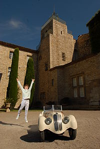 Bmw 328 junior car blanc chateau.JPG