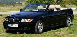 Un esempio di auto cabrio: la BMW 325Ci