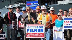 Bob Filner - Bob Filner Press Conference About Veterans