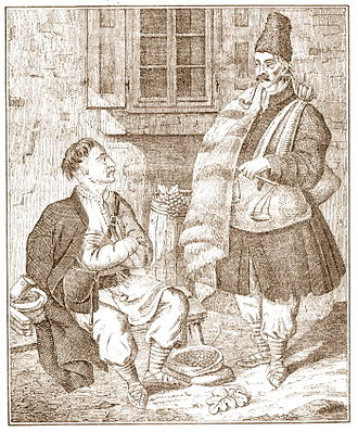 Boykos - Boyko inhabitants of Galicia, lithograph from 1837