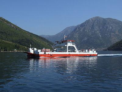 Boka Kotorska (Bay of Kotor), Montenegro. Ferry to Kamenari