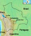 Bolivia - Zona en que combatió Che Guevara.png