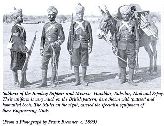Bombay Engineer Group - Bombay Sappers soldiers