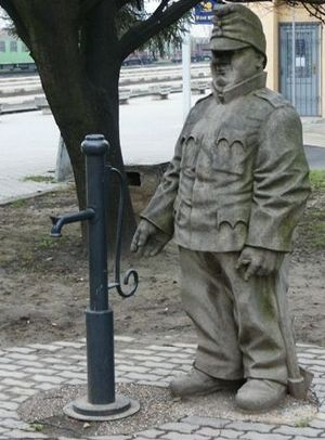 Humenné - Statue of The Good Soldier Švejk