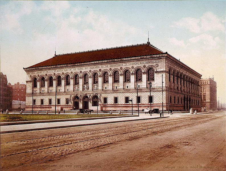 1909 Postcard of the Boston Public Library