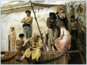 Slave market - The Slave Market, an 1882 painting by Gustave Boulanger
