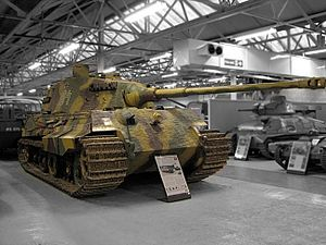 Tiger II - Image: Bovington Tiger II grey bg
