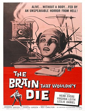 Brain in a vat - A poster for the film The Brain That Wouldn't Die, 1962