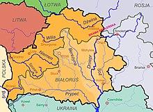 Rzeki Białorusi i ich dorzecza oraz wododział bałtycko-czarnomorski