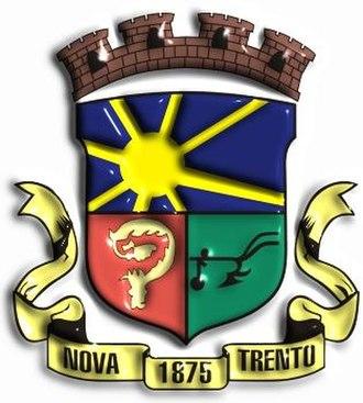 Nova Trento - Image: Brasao Nova Trento