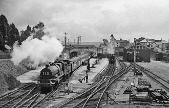 Disused railway stations on the Exeter to Plymouth Line - Brent Station in 1958