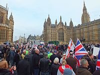 Brexit Campaigners out side Parliament November 2016.jpg
