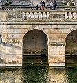 Bridge over the canal in Jardins de la Fontaine in Nimes 03.jpg