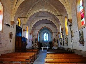Brie, Deux-Sèvres - Image: Brie église nef