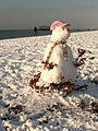 Brighton Beach Snowman - geograph.org.uk - 1655514.jpg