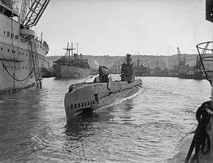 HMS Saracen (P247) - HMS Saracen at Algiers, 7 to 10 February, 1943 (IWM A15998)