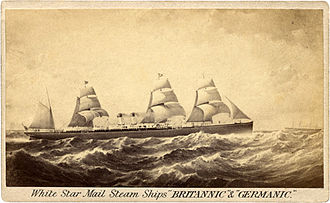 White Star Line - Britannic and Germanic of 1874, (5,000 GRT)