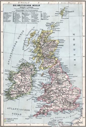 British Isles 1905
