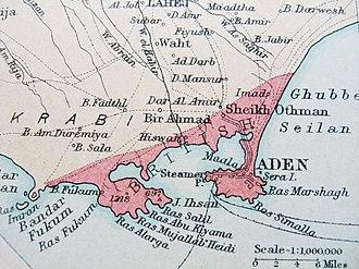Colony of Aden - Map of British Aden, 1922