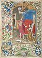 British Library Margaret of York before the resurrected Christ, Additional 7970, f. 1v.jpg