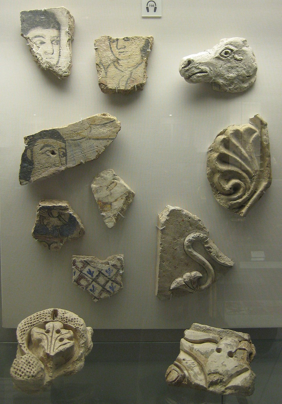 British Museum Harem wall painting fragments 1