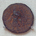 Bronze coin of Kanishka found in Khotan.jpg