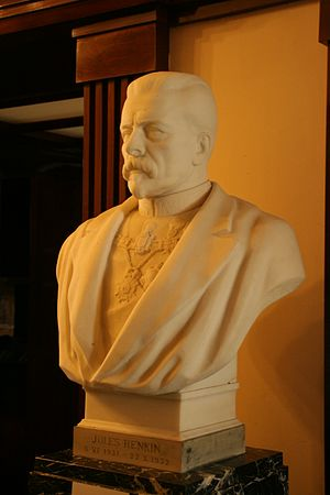 Jules Renkin - Renkin's official portrait bust in the Belgian Federal Parliament