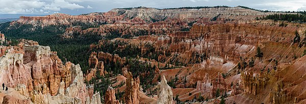 140 Mpx panorama of Bryce Canyon Amphitheater photographed from the Sunrise Point