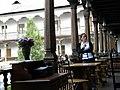 Bucuresti, Romania. Hanul lui Manuc. Repaus pe terasa. DSCN7771.jpg