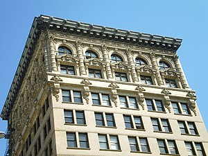 Spring Street Financial District - Continental Building, LA's first skyscraper