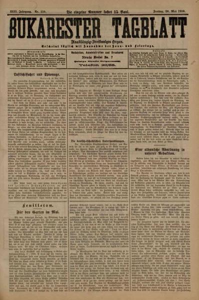 File:Bukarester Tagblatt 1910-05-20, nr. 110.pdf