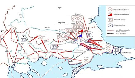 Bulgarian military operations during the First Balkan War Bulgarian Army FBW.JPG