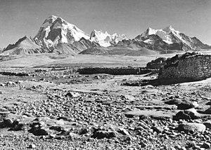 Jomolhari - Jomolhari seen from the southwest Picture taken in Phari, Tibet, in 1938