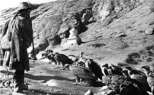 Sky burial - 1938 photo of Sky burial from the Bundesarchiv