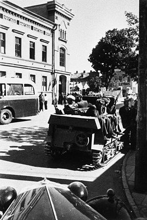 June Uprising in Lithuania - Lithuanian activists in Kaunas on June 25, 1941