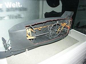 Brandtaucher - The Brandtaucher submarine cutaway model in Dresden, Germany