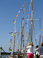 Bunting at Yarmouth Harbour during Old Gaffers Festival 2009.jpg