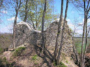 Kaltenburg Castle - Romanesque keep in the northwest.