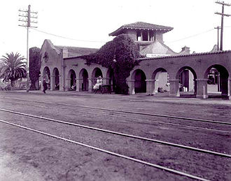 Burlingame station - Burlingame station, c. 1900