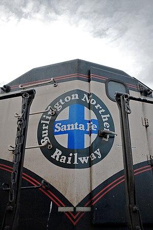 Front of a BNSF diesel locomotive