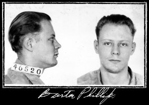 Life imprisonment - Mugshot of Burton Phillips, sentenced to life imprisonment for bank robbery, 1935
