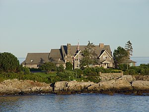Bush compound - The large central house